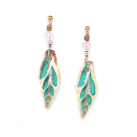 turquoise vexillum earrings Lagoon - Nature Bijoux