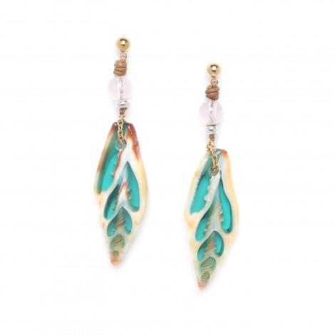 turquoise vexillum earrings Lagoon