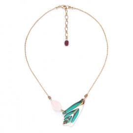 rose quartz & shell necklace Lagoon - Nature Bijoux