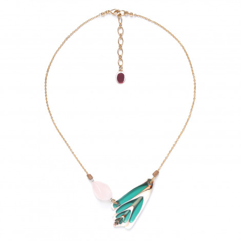 rose quartz & shell necklace Lagoon