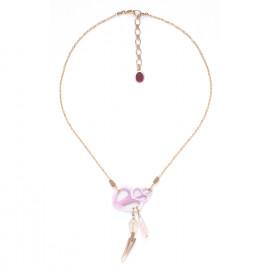 Cebu beauty necklace with dangles Lagoon - Nature Bijoux