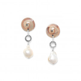 baroque pearl earrings Makatea - Nature Bijoux
