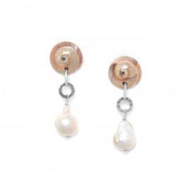 boucles d'oreilles perles de culture baroque Makatea - Nature Bijoux