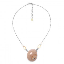 pearl & citrine necklace Makatea - Nature Bijoux