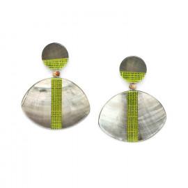 blacklip large earrings Mambe - Nature Bijoux