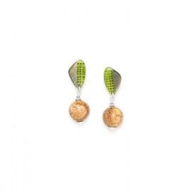 boucles d'oreilles perle jaspe Mambe - Nature Bijoux