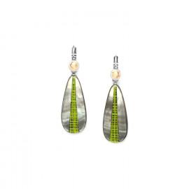 blacklip drop earrings Mambe - Nature Bijoux