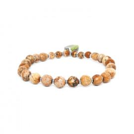 bracelet extensible jaspe Mambe - Nature Bijoux