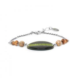 bracelet chaîne nacre & jaspe Mambe - Nature Bijoux