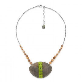 large pendant necklace Mambe - Nature Bijoux
