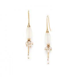 boucles d'oreilles grappe & olive de cristal de roche Ombre et lumiere - Nature Bijoux