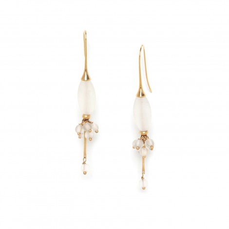 rock crystal olive & grape earrings Ombre et lumiere