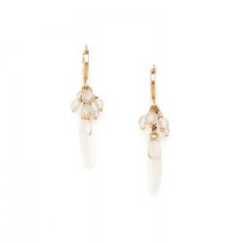 boucles d'oreilles mini créoles cristal de roche Ombre et lumiere - Nature Bijoux