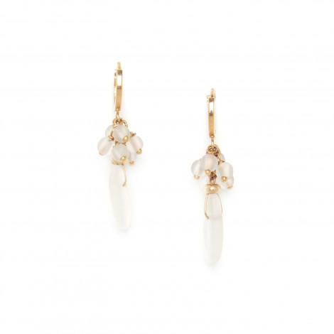 boucles d'oreilles mini créoles cristal de roche Ombre et lumiere