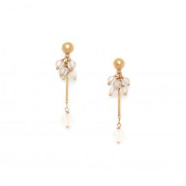 boucles d'oreilles grappe de cristal de roche Ombre et lumiere - Nature Bijoux