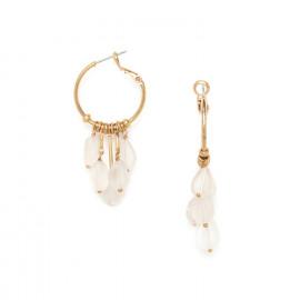 boucles d'oreilles créoles gouttes de cristal de roche Ombre et lumiere - Nature Bijoux