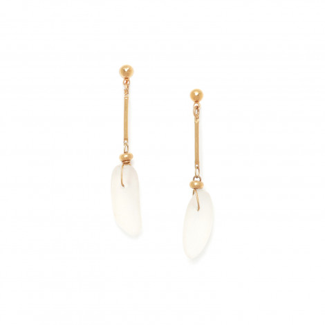 boucles d'oreilles un cristal de roche Ombre et lumiere