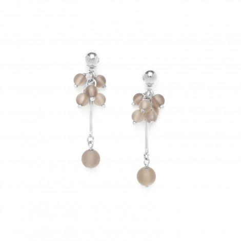boucles d'oreilles grappe quartz fumé Ombre et lumiere