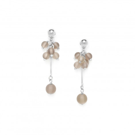 smoky quartz grape earrings Ombre et lumiere