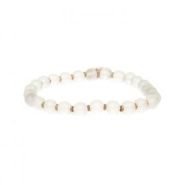bracelet extensible perles cristal de roche Ombre et lumiere - Nature Bijoux