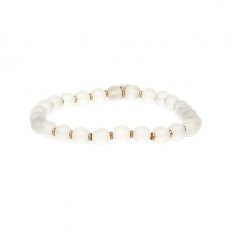 rock crystal bead stretch bracelet Ombre et lumiere