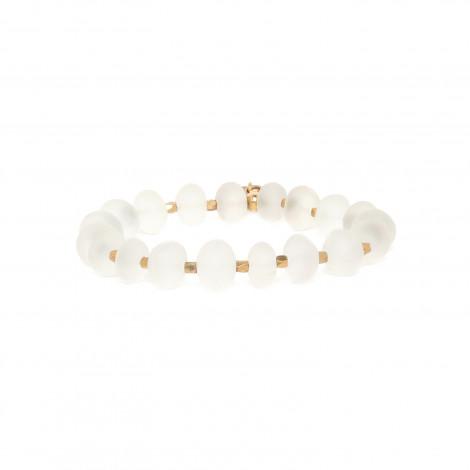 bracelet extensible cristal de roche faceté Ombre et lumiere