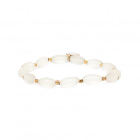 bracelet extensible olives cristal de roche Ombre et lumiere