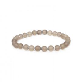 bracelet extensible perles quartz fumé Ombre et lumiere - Nature Bijoux