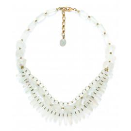 rock crystal 3 row necklace Ombre et lumiere - Nature Bijoux
