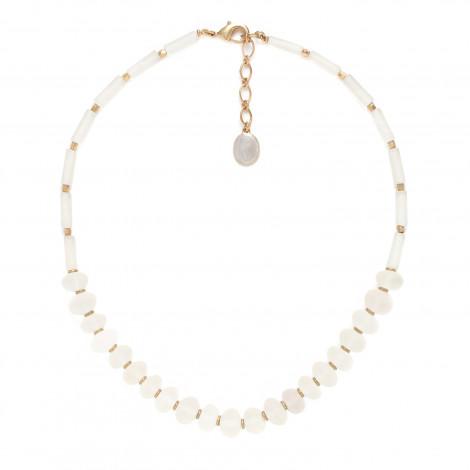 collier cristal de roche faceté Ombre et lumiere