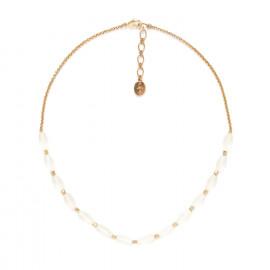 rock crystal olive necklace Ombre et lumiere - Nature Bijoux