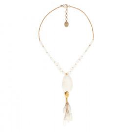 collier pendentif cristal de roche Ombre et lumiere - Nature Bijoux