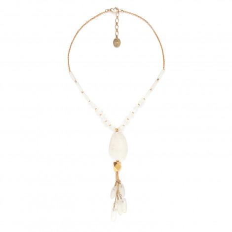 collier pendentif cristal de roche Ombre et lumiere