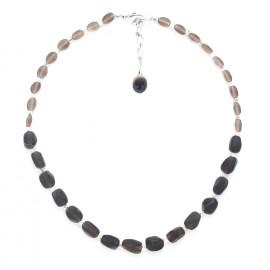 smoky quartz necklace Ombre et lumiere - Nature Bijoux