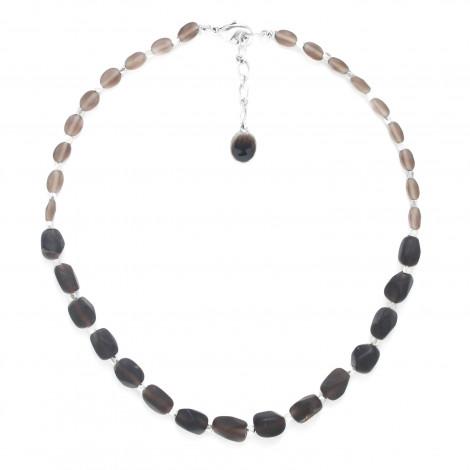smoky quartz necklace Ombre et lumiere