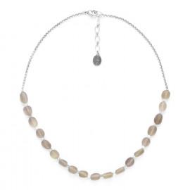smoky quartz necklace with chain Ombre et lumiere - Nature Bijoux