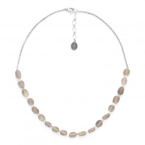 collier quartz fumé avec chaîne Ombre et lumiere