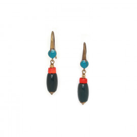 green jasper olive hook earrings Pigments - Nature Bijoux