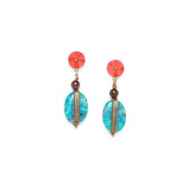 boucles d'oreilles larimar Pigments - Nature Bijoux