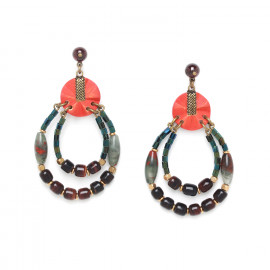 two loop earrings Pigments - Nature Bijoux