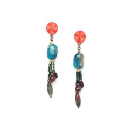 three dangle earrings Pigments - Nature Bijoux