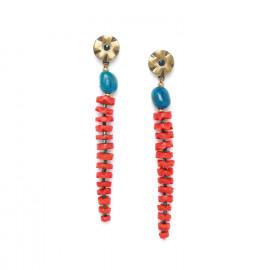 boucles d'oreilles longues Pigments - Nature Bijoux