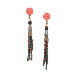 boucles d'oreilles pompon Pigments - Nature Bijoux