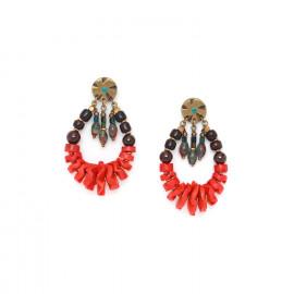 boucles d'oreilles gitanes Pigments - Nature Bijoux