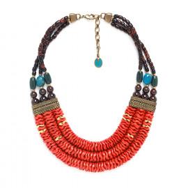 three row necklace Pigments - Nature Bijoux