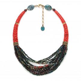 multi row necklace Pigments - Nature Bijoux