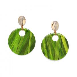 large gypsy earrings Raphia - Nature Bijoux