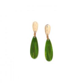 boucles d'oreilles goutte Raphia - Nature Bijoux