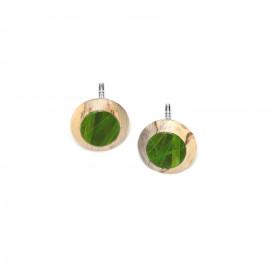 round french hook earrings Raphia - Nature Bijoux