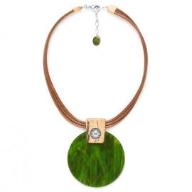 collier grand pendentif Raphia - Nature Bijoux